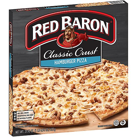Red Baron Pizza Classic Crust Hamburger - 21.95 Oz