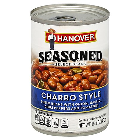 Hanover Seasoned Select Beans Pinto Charro Style - 15.5 Oz