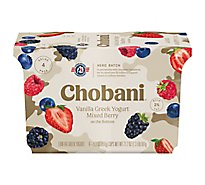 Chobani Yogurt Greek Low Fat Vanilla With Mixed Berry On The Bottom - 4-5.3 Oz