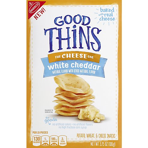 GOOD THiNS Snacks White Cheddar - 3.75 Oz