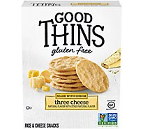 Good Thins Crackers Three Cheese - 3.5 Oz