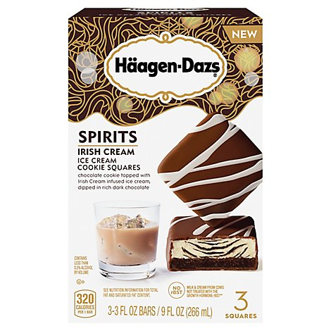Haagen-Dazs Ice Cream Cookie Squares Spirits Irish Cream - 3-3 Fl. Oz.