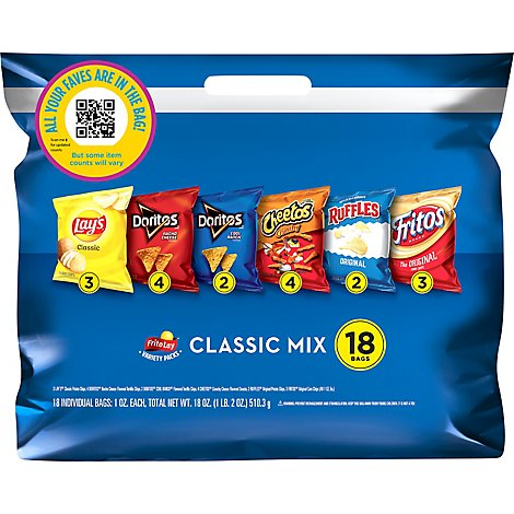 Frito-Lay Snacks Variety Classic Mix - 18 Count
