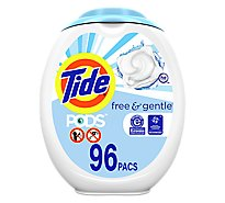 Tide PODS Detergent Pacs Free & Gentle - 96 Count