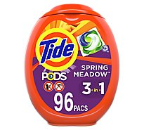 Tide PODS Liquid Laundry Detergent Pacs Spring Meadow - 96 Count