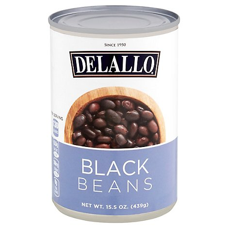 DeLallo Black Beans - 15.5 Oz