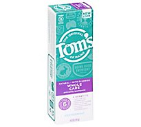 Toms of Maine Toothpaste Anticavity Fluoride Whole Care Peppermint - 4 Oz