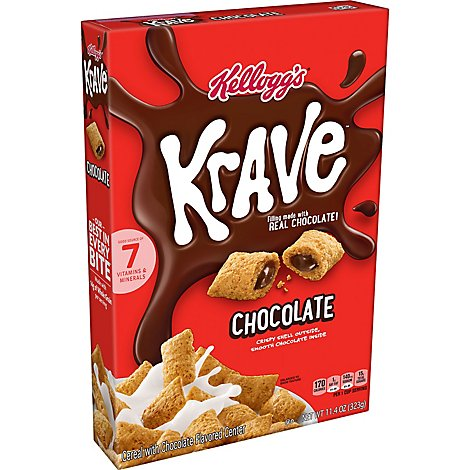 Krave Breakfast Cereal Chocolate - 11.4 Oz