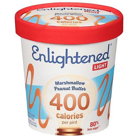Enlightened Ice Cream Light Marshmallow Peanut Butter 1 Pint - 473 Ml