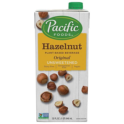 Pacific Foods Plant Based Beverage Hazelnut Original Unsweetened - 32 Oz
