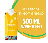 Barefoot-to-Go Pinot Grigio White Wine Tetra Pak - 500 Ml