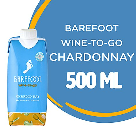 Barefoot-to-Go Chardonnay White Wine Tetra Pak - 500 Ml