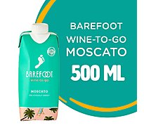 Barefoot-to-Go Moscato White Wine Tetra Pak - 500 Ml