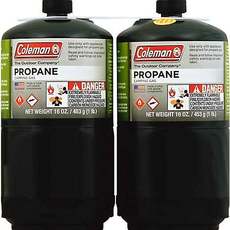Coleman Camping Gas Propane - 2-16 Oz