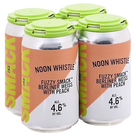 Noon Whistle Fuzzy Smack Berliner Weiss W/ Peach - 4-12 Fl. Oz.