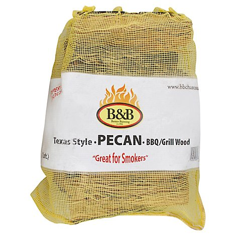 B & B Bbq/Grill Wood Pecan 1 Cu. Ft. - Each