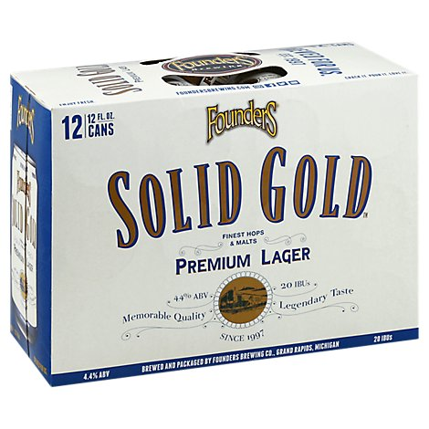 Founders Solid Gold Cans - 12-12 Fl. Oz.