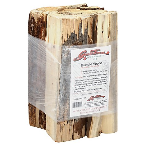Goodtimes Wood Products Bundle Wood Natural Firewood 0.75 Cu. Ft. - Each