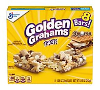 Golden Grahams Treats Bar Smores Chocolate Marshmallow - 8-1.06 Oz