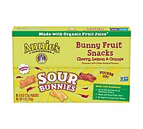 Annies Fruit Snacks Organic Bunny Sour Bunnies - 5-0.8 Oz