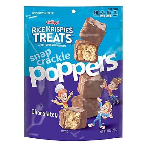Kelloggs Rice Krispies Treats Poppers Crispy Marshmallow Squares Chocolatey - 7.1 Oz