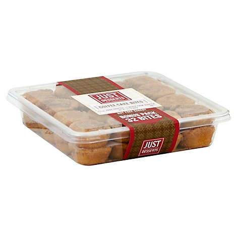 Just Desserts Coffee Cake Bites 32 Count - 19.3 Oz