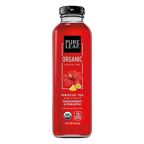 Pure Leaf Tea House Collection Organic Hibiscus Tea Passionfruit & Pineapple - 14 Fl. Oz.