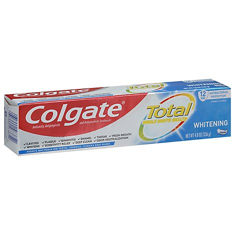 Colgate Total SF Toothpaste Whole Mouth Clean Whitening Paste - 4.8 Oz