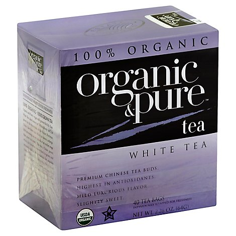 Organic & Pure White Tea Organic 40 Count - 2.26 Oz