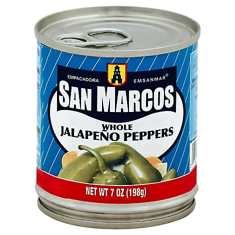 San Marcos Jalapeno Peppers Whole - 7 Oz
