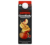GoodBelly Probiotics Juice Drink Peach Mango Orange 1 Quart - 32 Fl. Oz.