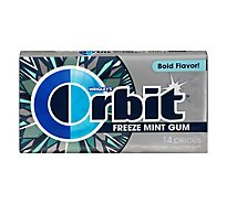 Orbit Freeze Mint Sugarfree Chewing Gum 14 Pieces