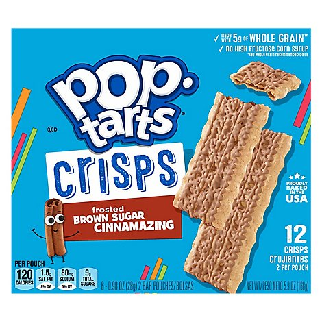 Pop-Tarts Crisps Frosted Brown Sugar Cinnamazing 6 Count - 5.9 Oz