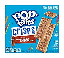 Pop-Tarts Crisps Frosted Brown Sugar Cinnamazing 12 Count - 5.9 Oz