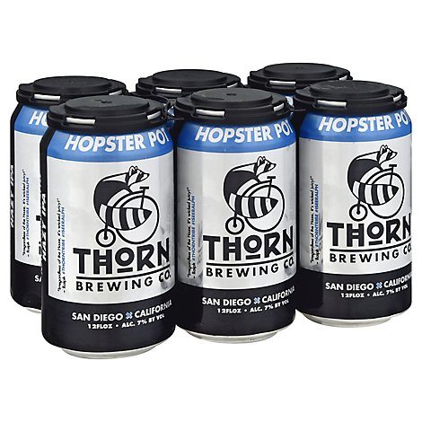 Thorn Brewing Company Hopster Pot Hazy Ipa In Cans - 6-12 Fl. Oz.