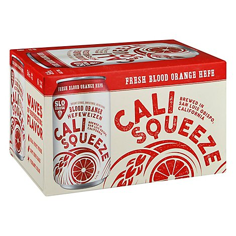 Slo Brew Cali Squeeze Beer Blood Orange Hefe Cans - 6-12 Fl. Oz.