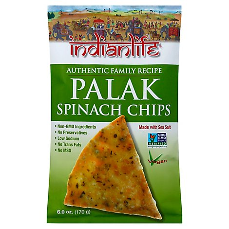 Indianlife Spinach Chips Palak - 6 Oz