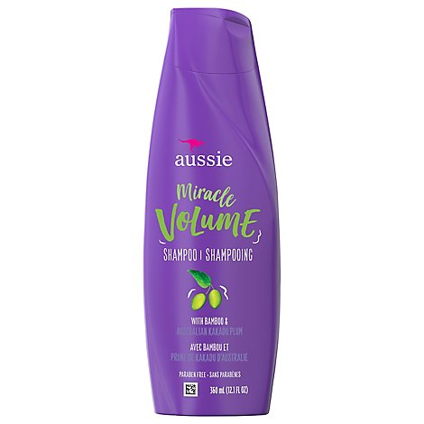 Aussie Miracle Volume Shampoo With Plum & Bamboo - 12.1 Fl. Oz.