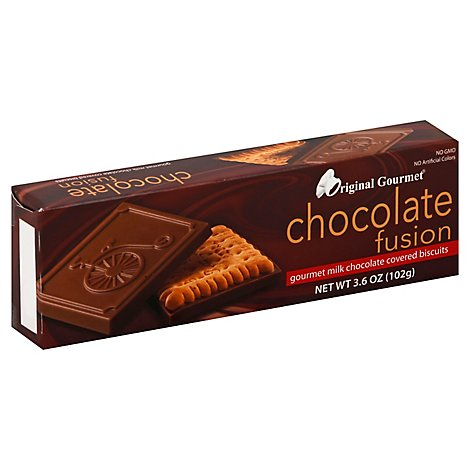 Original Gourmet Milk Chocolate Fusion Biscuits - 3.6 Oz