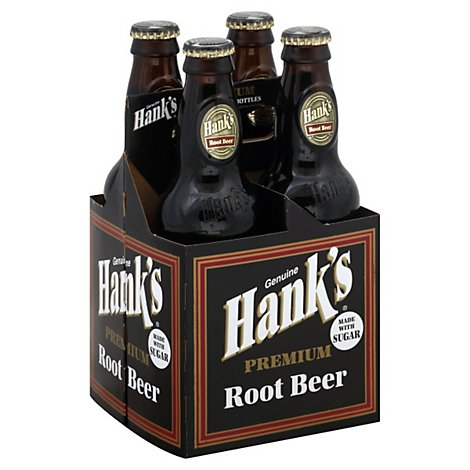 Hanks Soda Premium Root Beer Bottles - 4-12 Fl. Oz.