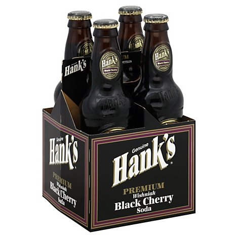 Hanks Soda Premium Wishniak Black Cherry Bottles - 4-12 Fl. Oz.