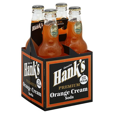 Hanks Soda Premium Orange Cream Bottles - 4-12 Fl. Oz.