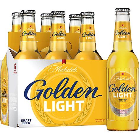 Michelob Golden Draft Light In Bottles - 6-12 Fl. Oz.