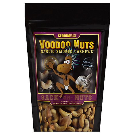 Voodoo Nuts Garlic Smoked Cashews - 6.5 Oz