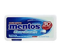 Mentos Cleanbreath Hard Mints Sugarfree Peppermint - 0.74 Oz
