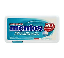 Mentos Cleanbreath Hard Mints Sugarfree Wintergreen - 0.74 Oz