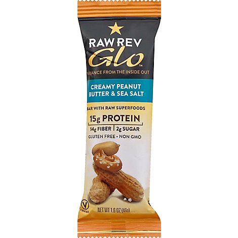 Raw Revolution Bar With Raw Superfoods Creamy Peanut Butter & Sea Salt - 1.6 Oz