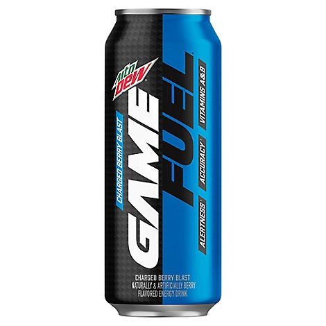 Mountain Dew Game Fuel Sparkling Juice Charged Berry Blast - 16 Fl. Oz.