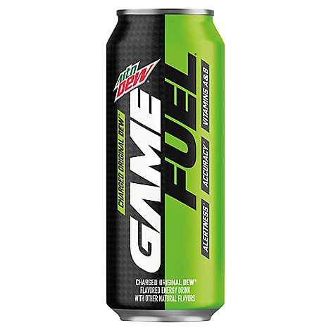 Mtn Dew Soda Game Fuel Charged Original Dew - 16 Fl. Oz.