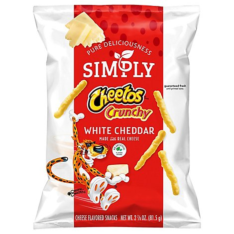 CHEETOS Simply Snacks Cheese Flavored Crunchy White Cheddar - 2.87 Oz